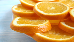 Slices of an orange Shooting passing Footage
