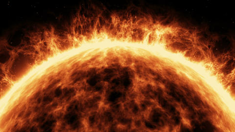 Highly realistic sun surface with flares Stock Video Footage