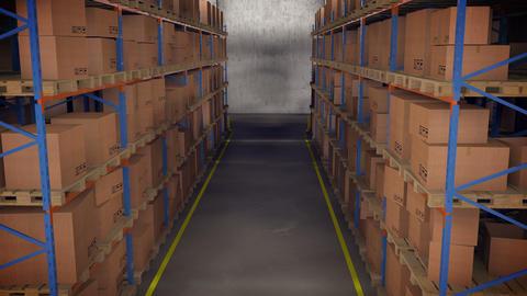 Warehouse Interior Boxes 2cam ビデオ