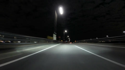 Rapid timelapse through the buildings and bridges in Tokyo Footage