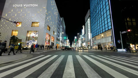 4K timelapse of Tokyo's nightlife district illumination preparing for Christmas Footage