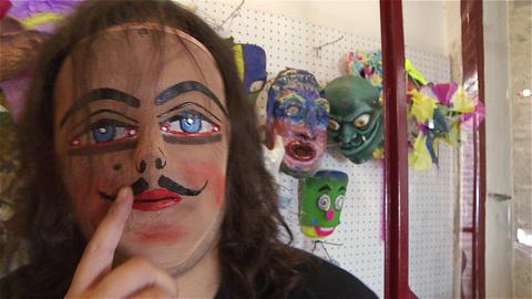 Fat Man In Masks Business Filmmaterial