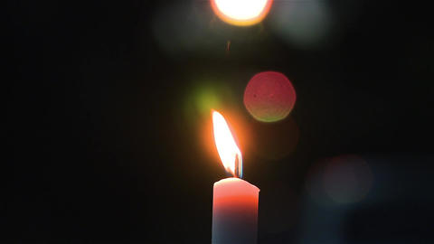 Candle with bokeh background Footage