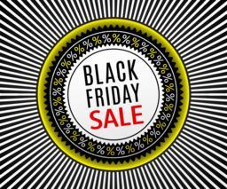 Black Friday Sale Banner. Advertising Poster ベクター