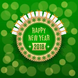 Golden New Year 2018 ベクター