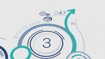 Corporate Logo Opener With Elements Of Infographics After Effects Template