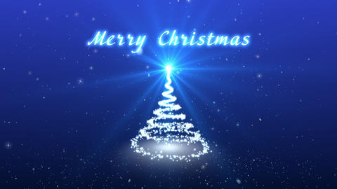 Congratulatory Christmas video card. Create a fantastic Christmas tree. Snow and CG動画素材