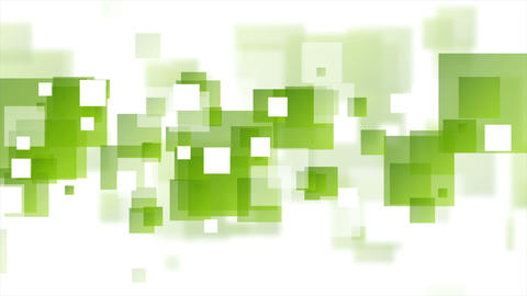 Tech geometric video animation with green squares Animation