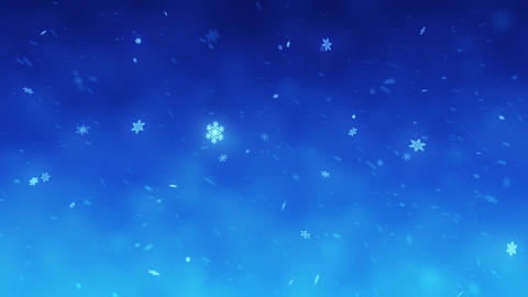 Snow falls and decorative snowflakes. Winter, Christmas, New Year. Animación