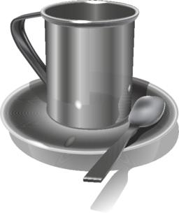 Realistic Metal mug on white background. Vector Vector