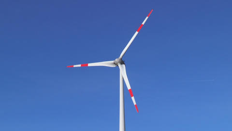 Wind turbines - concept of renewable energy Live Action