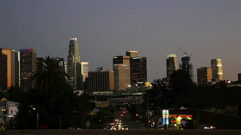 Video of downtown Los Angeles in slow motion ビデオ