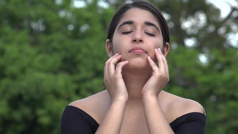 Sad Female Hispanic Teenager Live Action