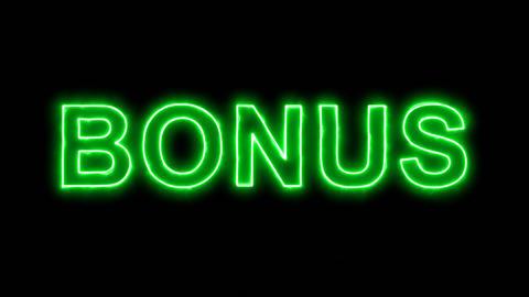 Neon flickering green text BONUS in the haze. Alpha channel Premultiplied - Animation