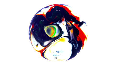 7 Colorful Ink Explode Universe Spheres Pack 2