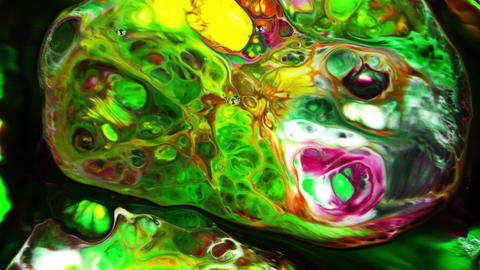 Abstract Urban Colorful Paint Dreamy Spread on Water 27 Footage