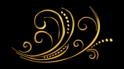 11 Animated Romantic Picturesque Gold Elements | Ultra HD 0