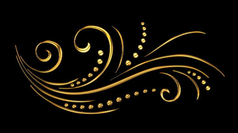11 Animated Romantic Picturesque Gold Elements | Ultra HD 1
