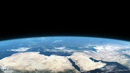 Earth from space, Europe, Africa, Asia Animation