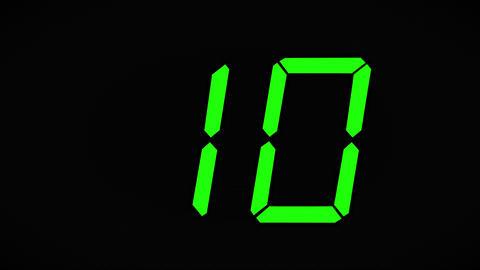 Ten Second Countdown Footage