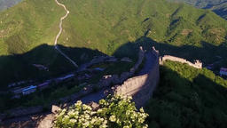 Aerial photography of the Great Wall of China Footage