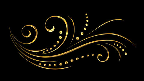 11 Animated Romantic Picturesque Gold Elements | Full HD 1