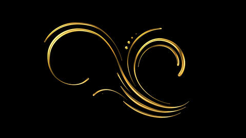 Animated Romantic Picturesque Gold Element 08 Stock Video Footage