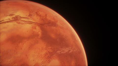 Animated Planet Mars. High quality CG animation on stars background Animation