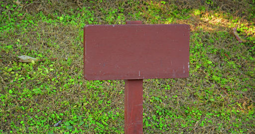 Wooden Sign Post with No Writing Footage
