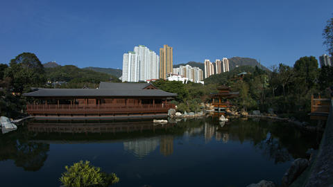 Chi Lin Nunnery. a popular attraction in Hong Kong. China GIF
