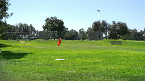 Video of golf field in San Diego in 4K Archivo