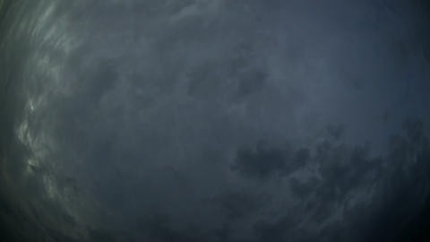 Abstract of Storm Clouds and Lightning in Timelapse Live Action