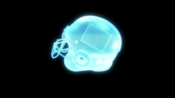 Football Helmet Hologram Animation
