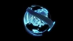 Globe Nice Hologram Animation 30FPS Animation