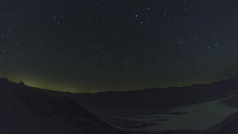 Astro night-time timelapse of the badwater basin shot from Dantes View in Death  Footage