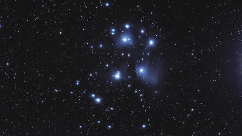 A timelapse of M45 the Pleiades showing some faint structures of the reflection  Footage