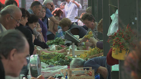 Farmers market place in Italy (3) Footage