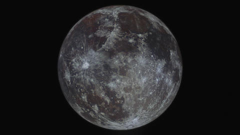 Simulation of orbiting around the moon; created from a high resolution full moon Animation