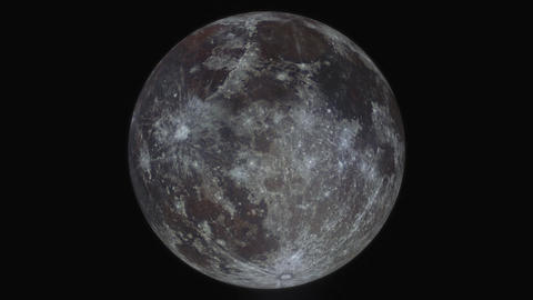 Simulation of orbiting around the moon; created from a... Stock Video Footage
