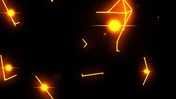 Electrical arcs neon lightning retro future vr voltage glow vector tron loop 4k Footage
