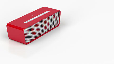 Red wireless speaker Animation