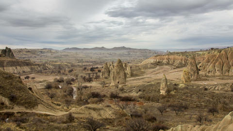 Cappadocia Zoom Out Timelapse stock footage