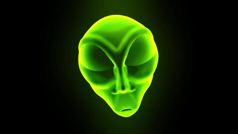 Alien grey head face creepy extraterrestrial gray martian creature ufo 4k Footage