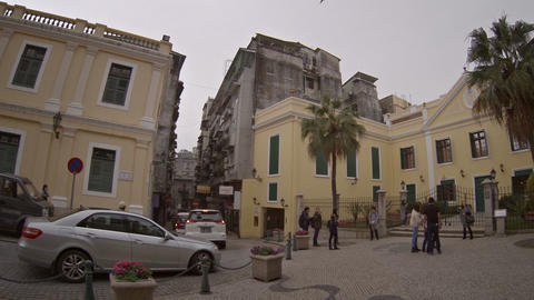 Beautiful. historic buildings in the heart of Macau Live Action