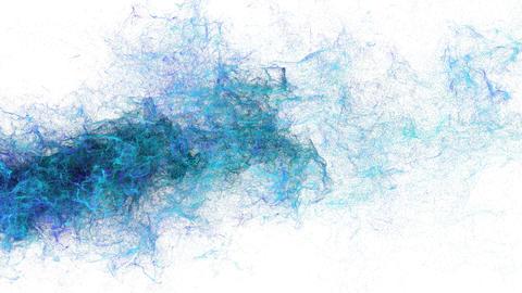 粒子パーティクルCGブルーパウダー CG動画素材