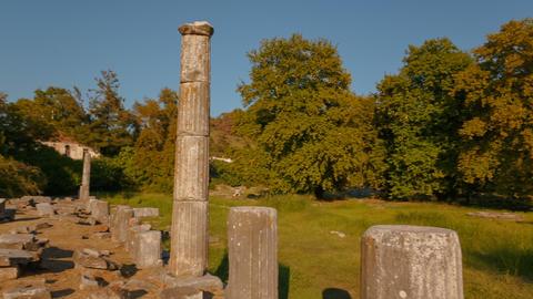 Ancient Agora, Limenas, Thassos, Greece Footage