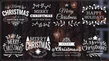 Merry Christmas Titles II Plantilla de After Effects