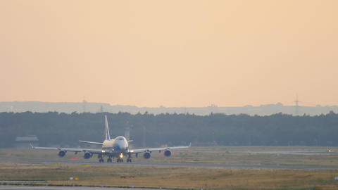 Cargo airplane departure Footage