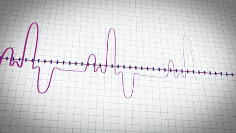 Curvy heart rate monitor Footage
