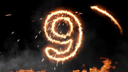 Fire Countdown 10 (Happy new year) Filmmaterial